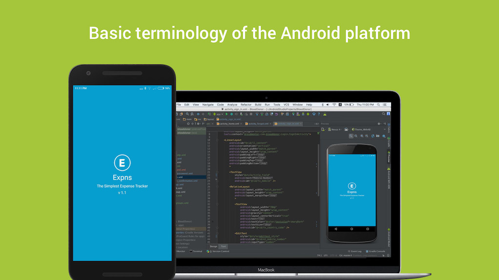 Basic terminology of the Android platform