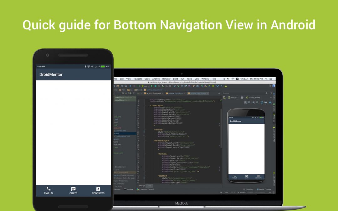 Quick guide for Bottom Navigation View in Android
