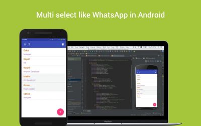 Multi select like WhatsApp in Android