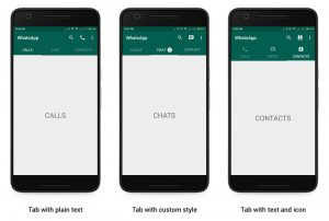 How to create Swipeable Tabs like WhatsApp