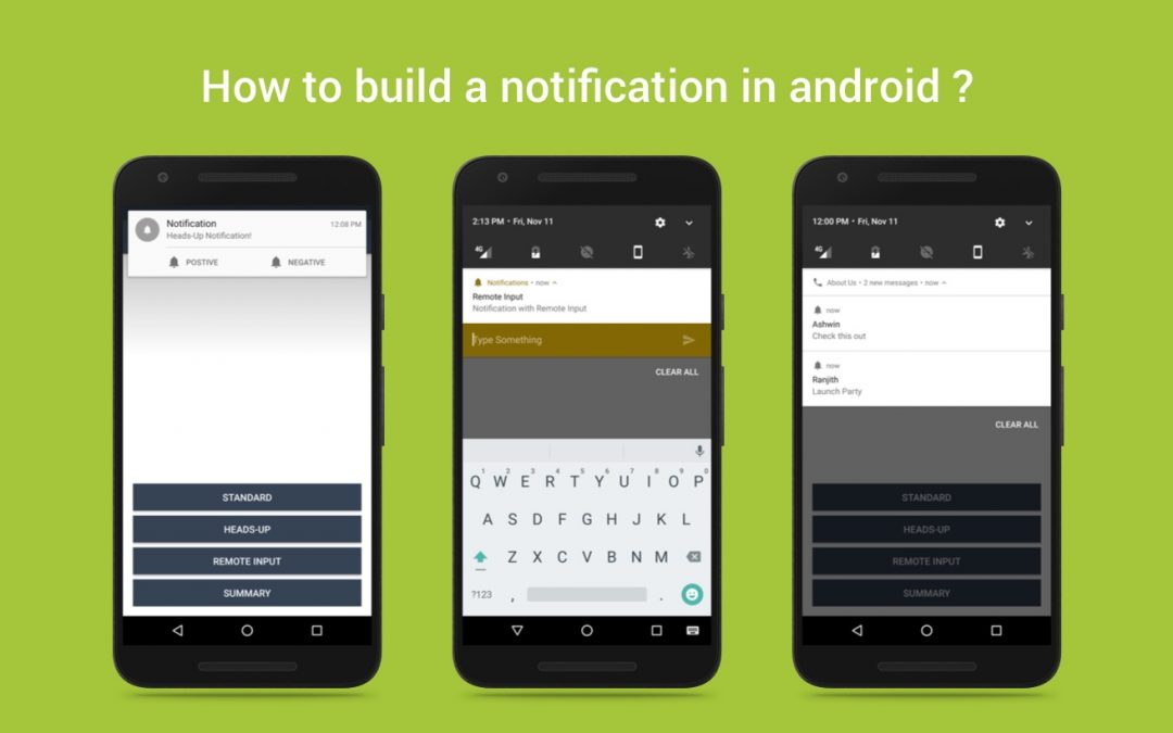 How to build a notification in android ?