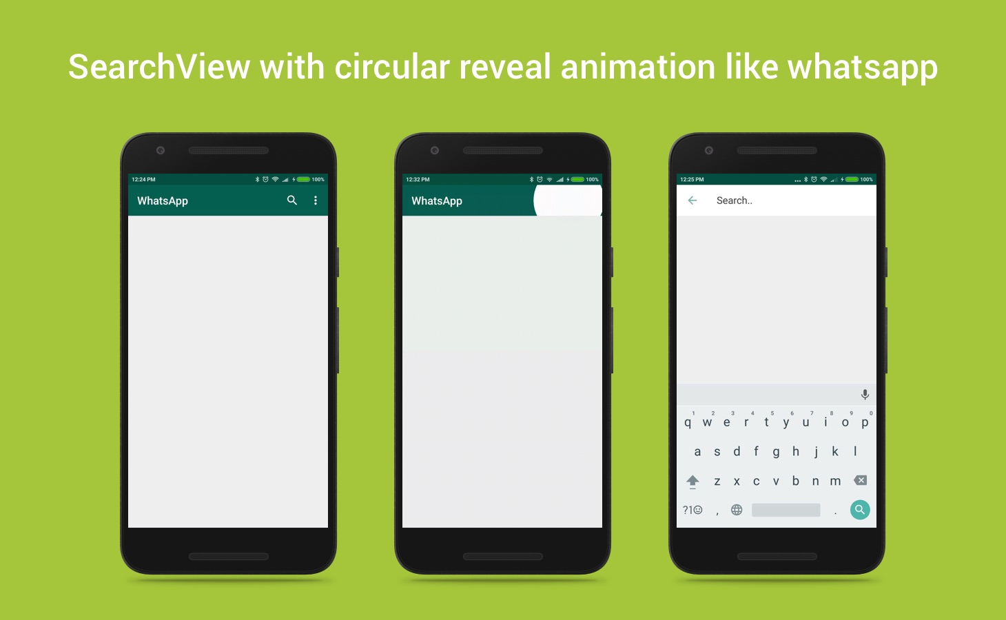 SearchView with circular reveal animation like whatsapp