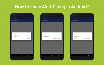 How to show AlertDialog in Android?