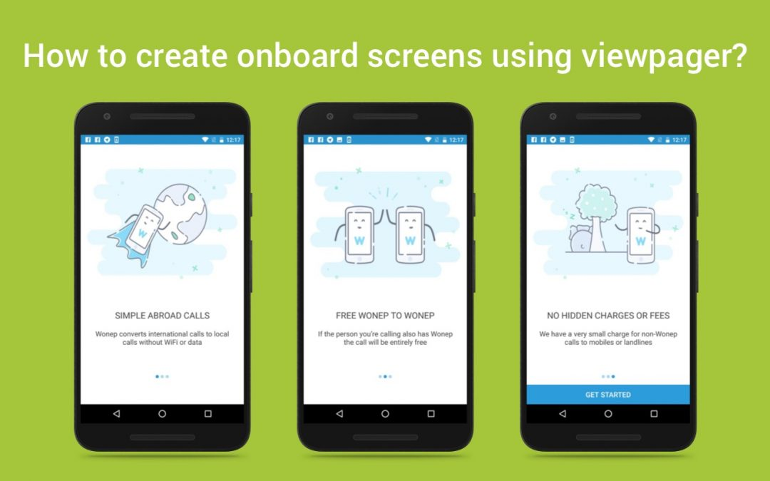 How to create onboard screens using viewpager?