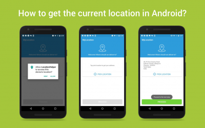 How to get the current location in Android?