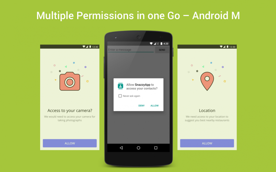 Multiple Permissions in one Go - Android M