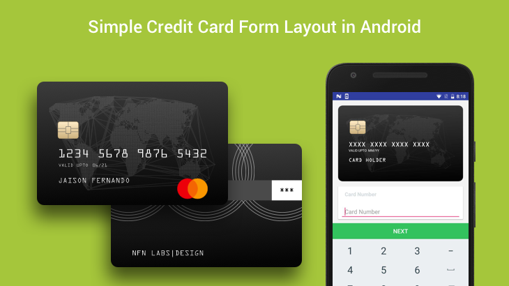 Simple Credit Card Form Layout in Android