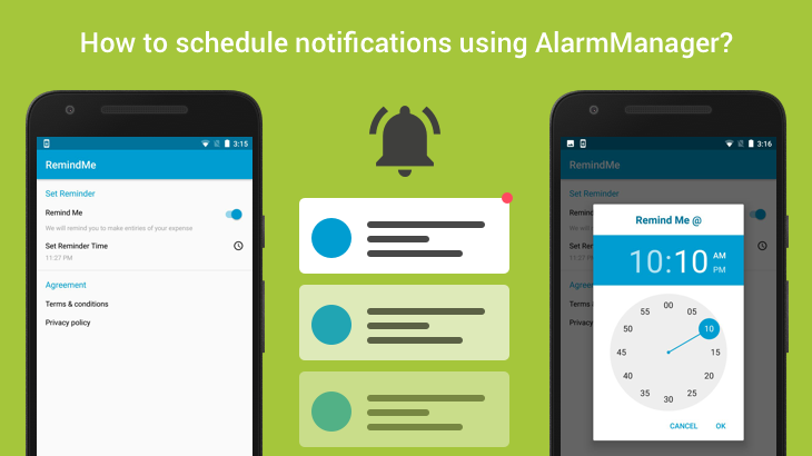 how to schedule notifications using alarmmanager